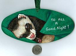 Collectables; To All A Good Night; Handpainted Masonite Sign; Stef