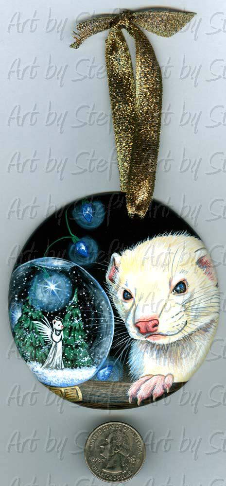 Collectables; True Blue Christmas; Handpainted Ceramic Ornament; Stef