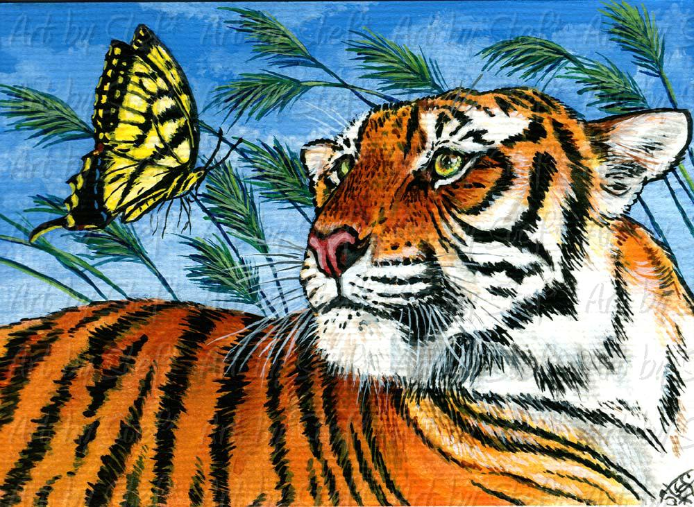 Other Animals; Tyger, Tyger; Acrylic ACEO; Stef