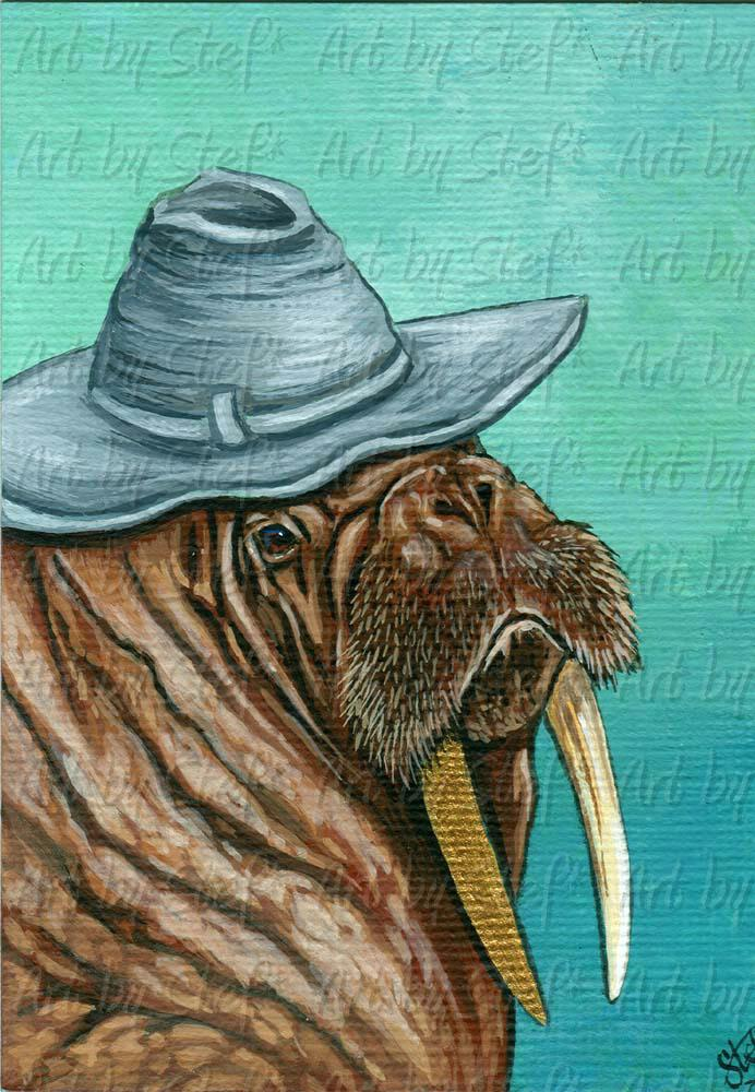 Whimsical; Walrus Prospector; ACEO; Stef