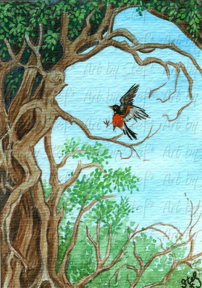 Whimsical; Welcome Tree; ACEO; Stef