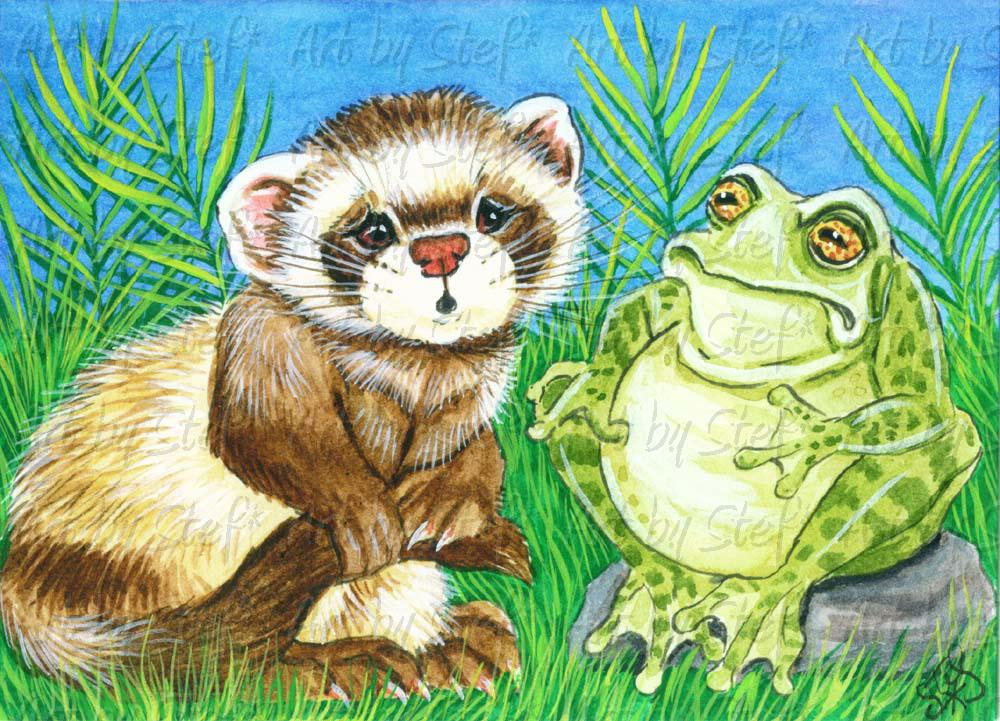 Whimsical; What Bullfrog Said; ACEO; Stef